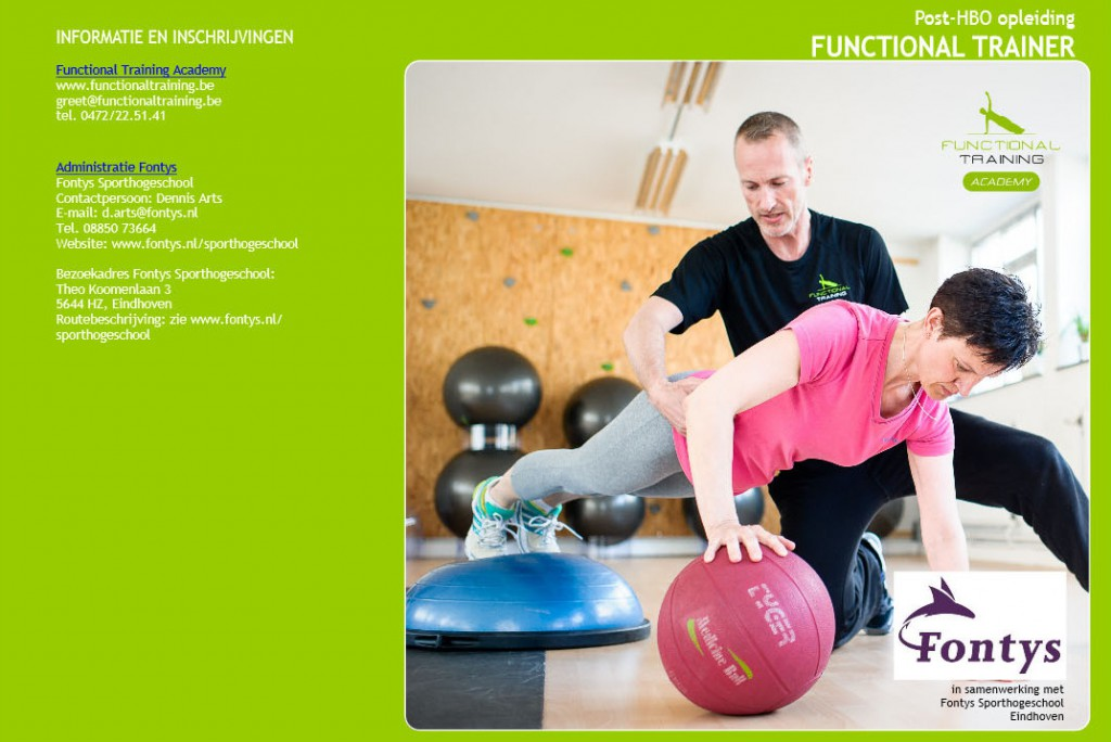 Flyer voor nieuwe opleiding FT bij Fontys